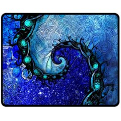Nocturne Of Scorpio, A Fractal Spiral Painting Fleece Blanket (medium)  by beautifulfractals