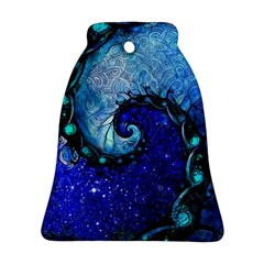 Nocturne Of Scorpio, A Fractal Spiral Painting Bell Ornament (two Sides) by jayaprime