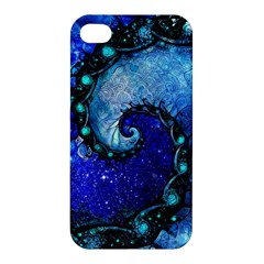 Nocturne Of Scorpio, A Fractal Spiral Painting Apple Iphone 4/4s Hardshell Case by beautifulfractals