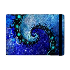 Nocturne Of Scorpio, A Fractal Spiral Painting Apple Ipad Mini Flip Case by jayaprime