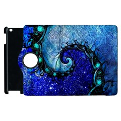Nocturne Of Scorpio, A Fractal Spiral Painting Apple Ipad 3/4 Flip 360 Case by beautifulfractals