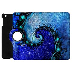 Nocturne Of Scorpio, A Fractal Spiral Painting Apple Ipad Mini Flip 360 Case by jayaprime