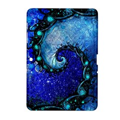 Nocturne Of Scorpio, A Fractal Spiral Painting Samsung Galaxy Tab 2 (10 1 ) P5100 Hardshell Case  by jayaprime