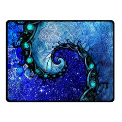 Nocturne Of Scorpio, A Fractal Spiral Painting Double Sided Fleece Blanket (small)  by beautifulfractals