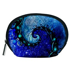 Nocturne Of Scorpio, A Fractal Spiral Painting Accessory Pouches (medium)  by jayaprime