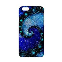 Nocturne Of Scorpio, A Fractal Spiral Painting Apple Iphone 6/6s Hardshell Case by jayaprime