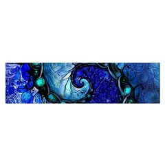 Nocturne Of Scorpio, A Fractal Spiral Painting Satin Scarf (oblong) by beautifulfractals