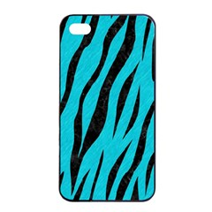 Skin3 Black Marble & Turquoise Colored Pencil Apple Iphone 4/4s Seamless Case (black) by trendistuff