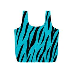 Skin3 Black Marble & Turquoise Colored Pencil Full Print Recycle Bags (s)  by trendistuff