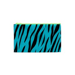 Skin3 Black Marble & Turquoise Colored Pencil Cosmetic Bag (xs) by trendistuff