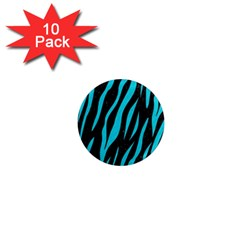 Skin3 Black Marble & Turquoise Colored Pencil (r) 1  Mini Magnet (10 Pack)  by trendistuff