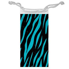 Skin3 Black Marble & Turquoise Colored Pencil (r) Jewelry Bag by trendistuff