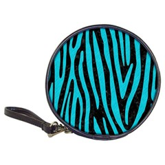 Skin4 Black Marble & Turquoise Colored Pencil Classic 20 Cd Wallets by trendistuff