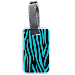 Skin4 Black Marble & Turquoise Colored Pencil Luggage Tags (two Sides) by trendistuff