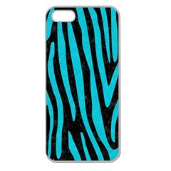 Skin4 Black Marble & Turquoise Colored Pencil Apple Seamless Iphone 5 Case (clear)