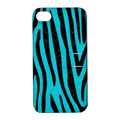 Skin4 Black Marble & Turquoise Colored Pencil (r) Apple Iphone 4/4s Hardshell Case With Stand by trendistuff