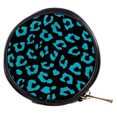 Skin5 Black Marble & Turquoise Colored Pencil Mini Makeup Bags by trendistuff