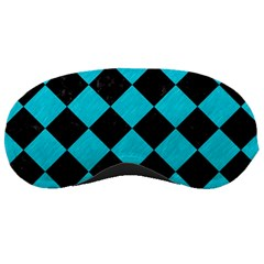 Square2 Black Marble & Turquoise Colored Pencil Sleeping Masks by trendistuff