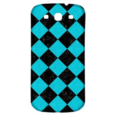 Square2 Black Marble & Turquoise Colored Pencil Samsung Galaxy S3 S Iii Classic Hardshell Back Case by trendistuff