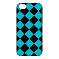 Square2 Black Marble & Turquoise Colored Pencil Apple Iphone 5c Hardshell Case by trendistuff