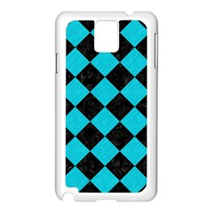 Square2 Black Marble & Turquoise Colored Pencil Samsung Galaxy Note 3 N9005 Case (white) by trendistuff