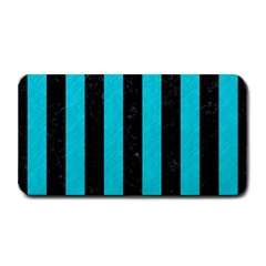Stripes1 Black Marble & Turquoise Colored Pencil Medium Bar Mats by trendistuff