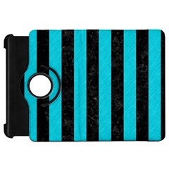 Stripes1 Black Marble & Turquoise Colored Pencil Kindle Fire Hd 7  by trendistuff