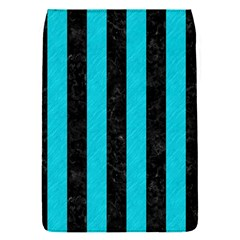 Stripes1 Black Marble & Turquoise Colored Pencil Flap Covers (s)  by trendistuff