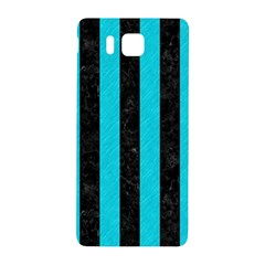 Stripes1 Black Marble & Turquoise Colored Pencil Samsung Galaxy Alpha Hardshell Back Case by trendistuff