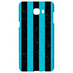Stripes1 Black Marble & Turquoise Colored Pencil Samsung C9 Pro Hardshell Case  by trendistuff