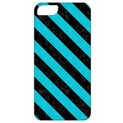 Stripes3 Black Marble & Turquoise Colored Pencil Apple Iphone 5 Classic Hardshell Case