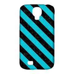 Stripes3 Black Marble & Turquoise Colored Pencil Samsung Galaxy S4 Classic Hardshell Case (pc+silicone) by trendistuff