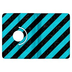 Stripes3 Black Marble & Turquoise Colored Pencil (r) Kindle Fire Hdx Flip 360 Case by trendistuff