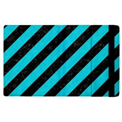 Stripes3 Black Marble & Turquoise Colored Pencil (r) Apple Ipad Pro 12 9   Flip Case by trendistuff