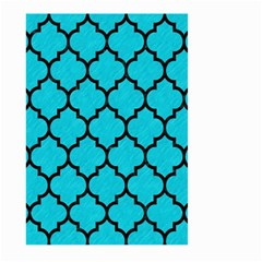 Tile1 Black Marble & Turquoise Colored Pencil Large Garden Flag (two Sides) by trendistuff