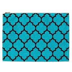 Tile1 Black Marble & Turquoise Colored Pencil Cosmetic Bag (xxl)  by trendistuff