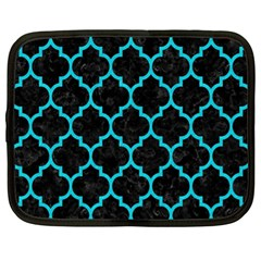 Tile1 Black Marble & Turquoise Colored Pencil (r) Netbook Case (xl)  by trendistuff