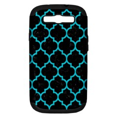 Tile1 Black Marble & Turquoise Colored Pencil (r) Samsung Galaxy S Iii Hardshell Case (pc+silicone) by trendistuff