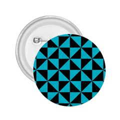 Triangle1 Black Marble & Turquoise Colored Pencil 2 25  Buttons by trendistuff
