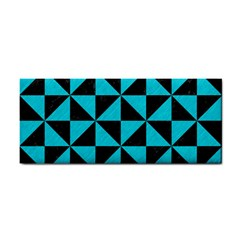 Triangle1 Black Marble & Turquoise Colored Pencil Cosmetic Storage Cases by trendistuff