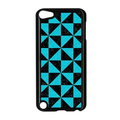 Triangle1 Black Marble & Turquoise Colored Pencil Apple Ipod Touch 5 Case (black)