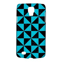 Triangle1 Black Marble & Turquoise Colored Pencil Galaxy S4 Active by trendistuff