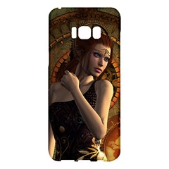 Wonderful Steampunk Women With Clocks And Gears Samsung Galaxy S8 Plus Hardshell Case