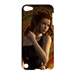 Wonderful Steampunk Women With Clocks And Gears Apple Ipod Touch 5 Hardshell Case