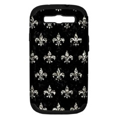 Royal1 Black Marble & Silver Foil Samsung Galaxy S Iii Hardshell Case (pc+silicone) by trendistuff