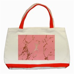 Luxurious Pink Marble Classic Tote Bag (red) by tarastyle