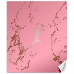 Luxurious Pink Marble Canvas 8  X 10  by tarastyle