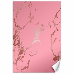 Luxurious Pink Marble Canvas 24  X 36  by tarastyle