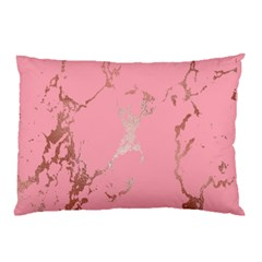 Luxurious Pink Marble Pillow Case by tarastyle