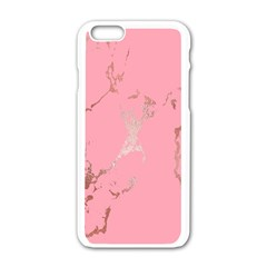 Luxurious Pink Marble Apple Iphone 6/6s White Enamel Case by tarastyle
